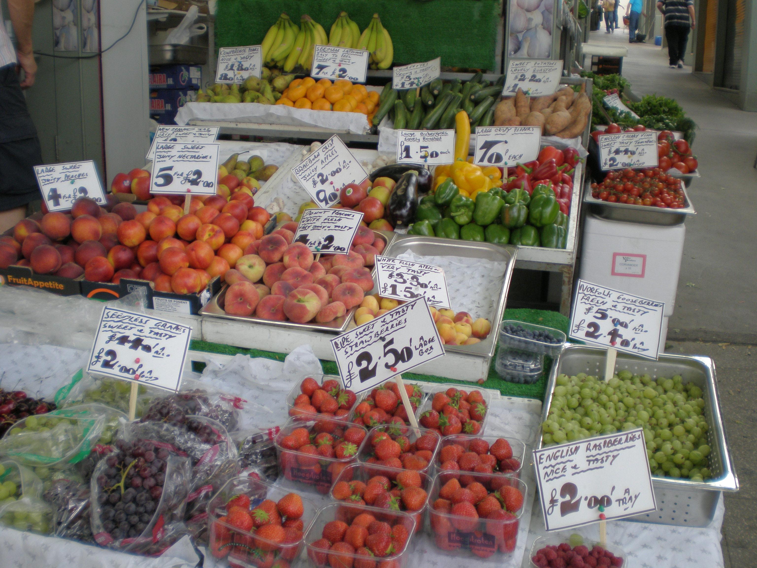 Marché fruits et légumes - Angleterre