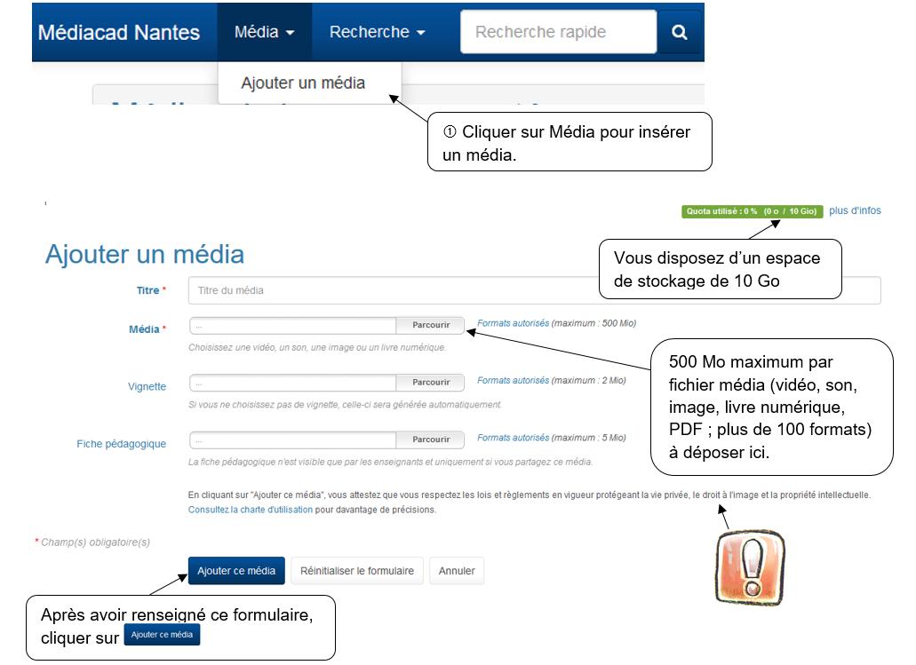 f674a00a1e96ed Vous souhaitez ajouter un média et le partager rapidement avec les élèves  de votre classe, la publication d un média suit trois étapes   ajouter un  média, ...