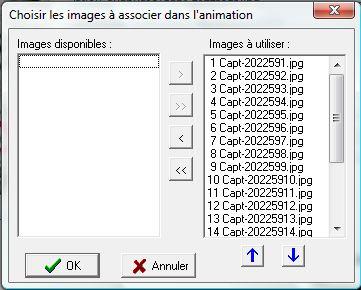 Images utilisées pour l'animation
