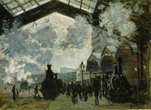 Monet, Arrivée du train de Normandie, gare Saint-Lazare
