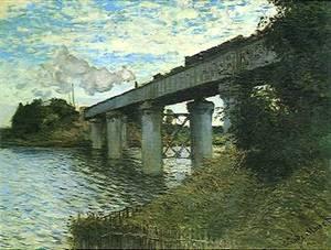 Monet Le pont du chemin de fer Argenteuil