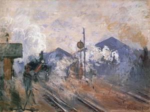 Monet La gare Saint-Lazare Trains
