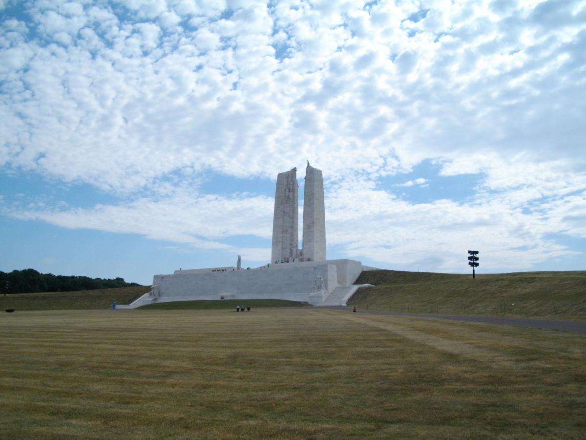 Le monument canadien de Vimy dans la Somme