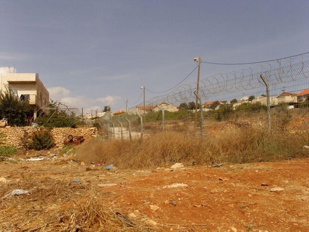 la banlieue nord de Hébron  et les colonies israéliennes
