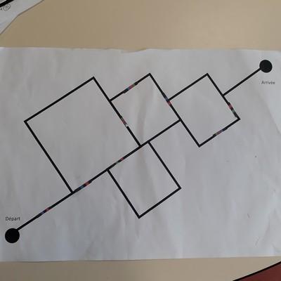 Parcours Ozobot proposé par les élèves