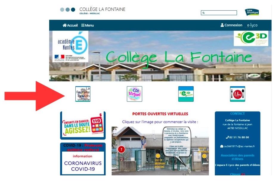 Page d'accueil collège la Fontaine