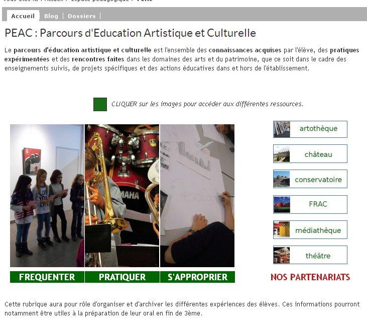 page d'accueil du collège de Chateaubrilland