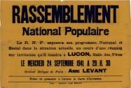 affiche rassemblement parti collaborationiste (AD85)