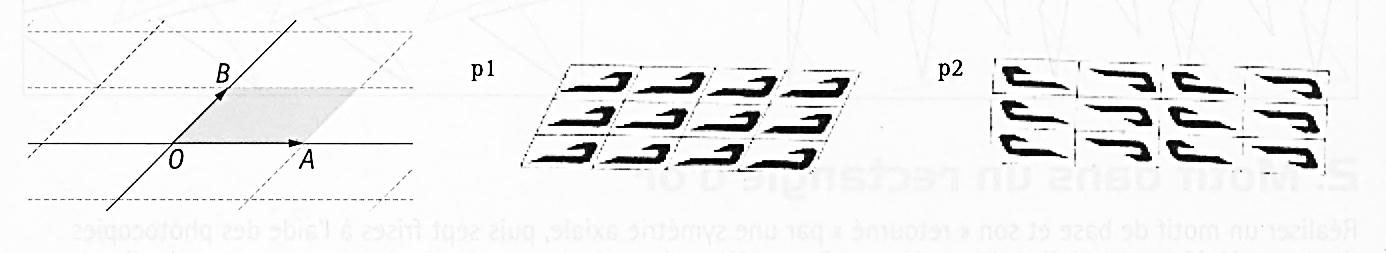 maille en parallélogramme