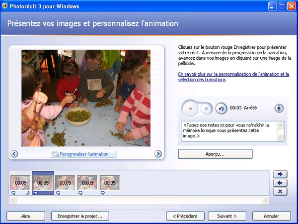 photorécit 3 pour windows xp