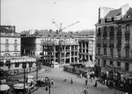 un chantier de reconstruction de la place royale (AM Nantes)