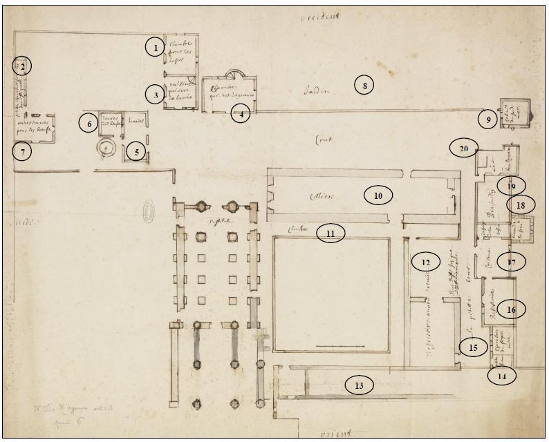 plan de l'abbaye (XVIIe)