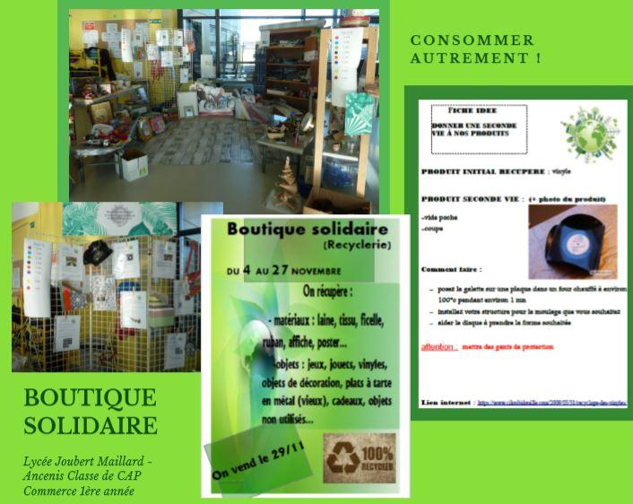 plaquette projet boutique solidaire
