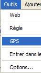 menu GPS