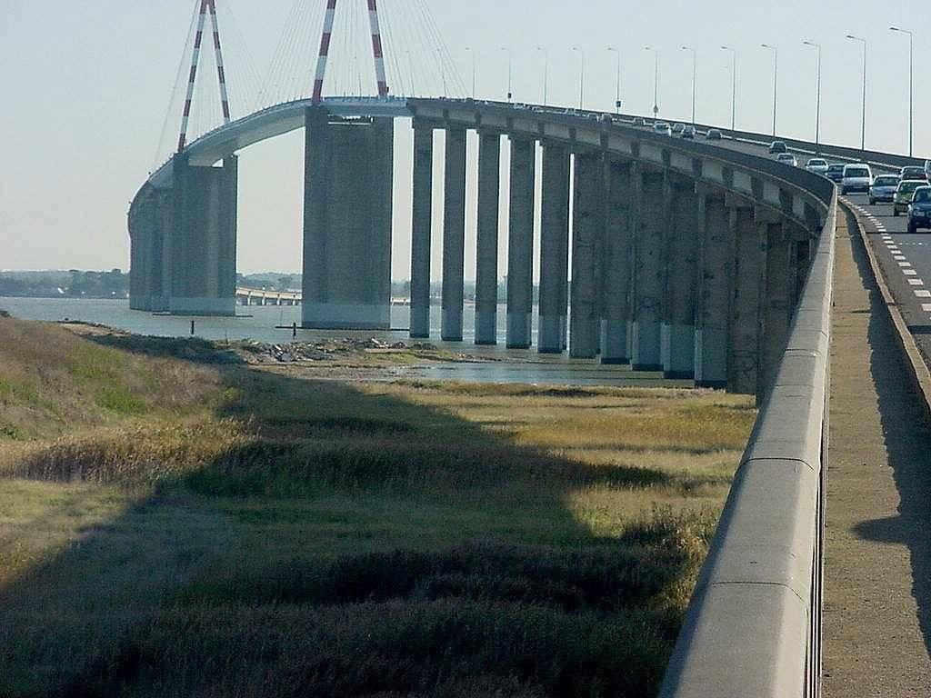 Pont de Saint-Nazaire, photo prise de la rive Nord