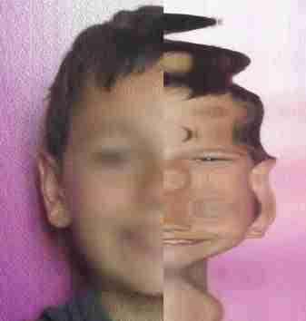 Portrait réalisé par les élèves avec différents filtres - exemple 1