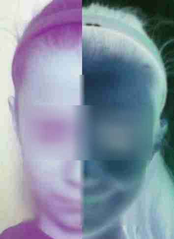 Portrait réalisé par les élèves avec différents filtres - exemple 2