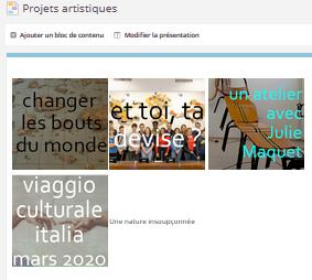 Projets artistiques