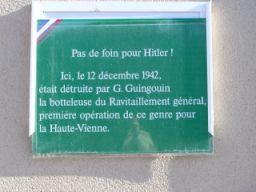 plaqque commémorative
