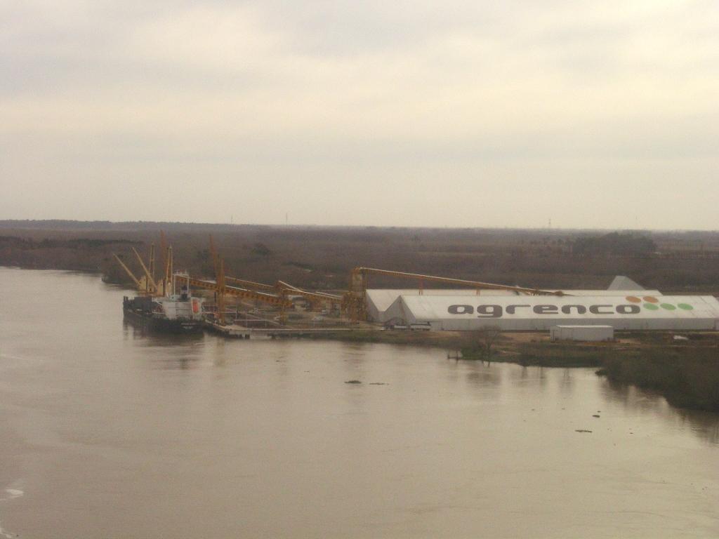 quai de chargement des produits agricoles sur le Rio de la Plata