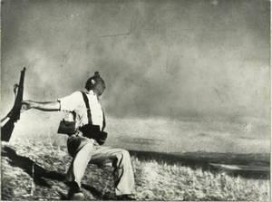 """Mort d'un soldat  républicain"", Robert Capa, 5 septembre 1936"