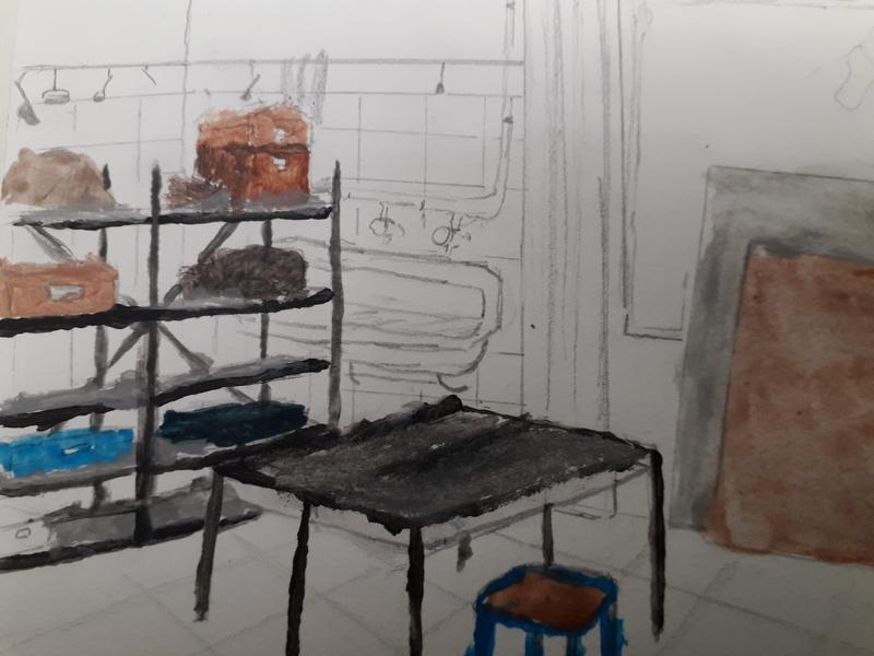 Salle d'arts plastiques intérieur