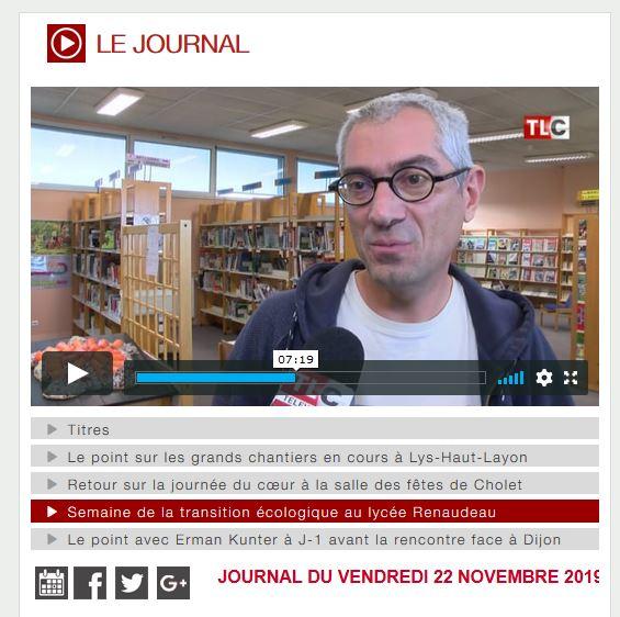Semaine de la transition écologique au lycée Renaudeau-La Mode à Cholet.