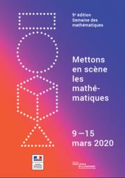 affiche semaine des mathématiques 2020