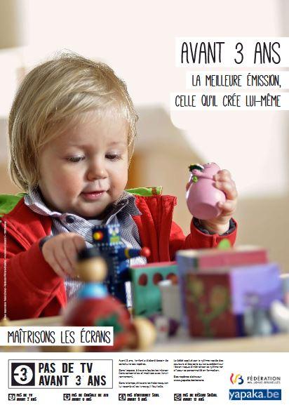 Affiche Semaine Sans Ecran - Avant 3 ans