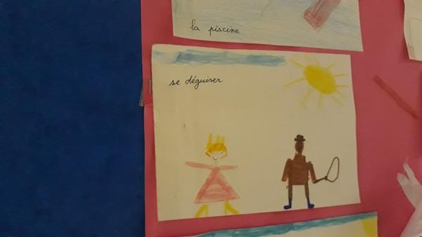 Bons d'activités dessinés par les élèves