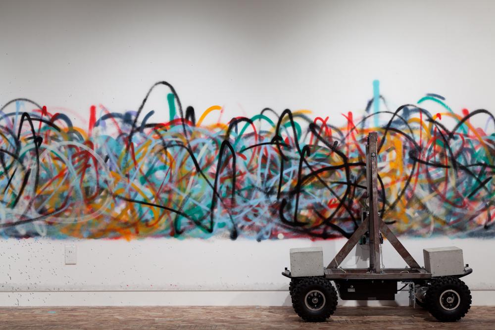 So KANNO et Takihiro YAMAGUCHI, Senseless Drawing Bot, 2011