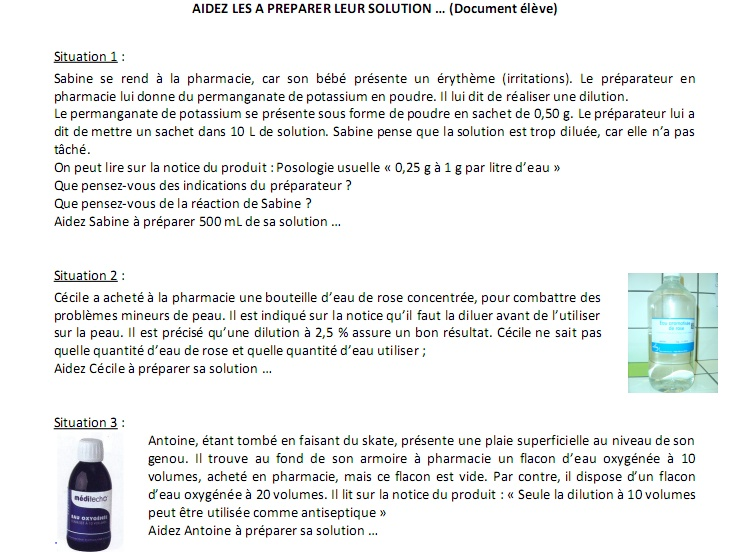 exercice dilution seconde