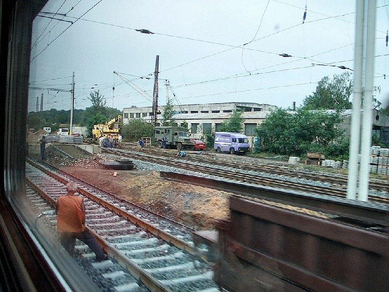 travaux sur la voie Prague Vienne