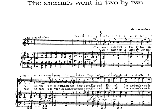 the animals went in two by two partition