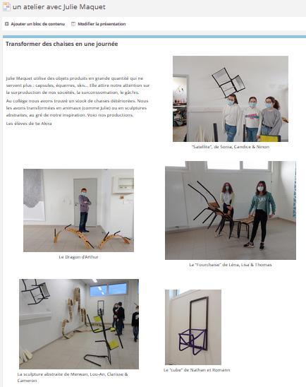 Un atelier avec Julie Maquet