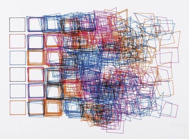 Vera MOLNAR, Structures de quadrilatères, 1988