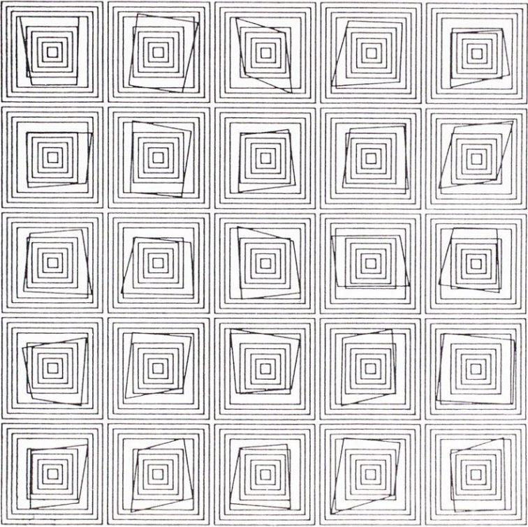 Vera Molnar, Transformations, 1976