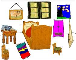 Espace p dagogique arts histoire et g ographie d couvrir et retoucher l 39 uvre d 39 un grand ma tre - Tableau de van gogh la chambre ...