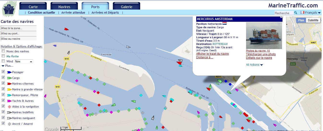 vue marine traffic