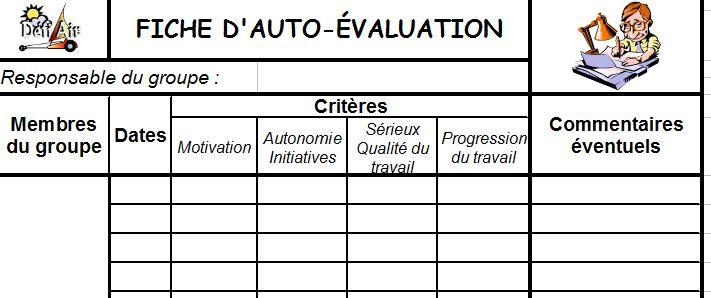 Espace p dagogique technologies et sciences des ing nieurs co valuation et ou auto - Grille d auto evaluation ...